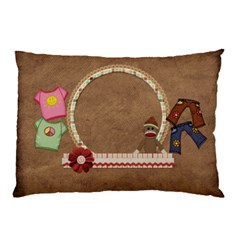 Sock Monkey Love 2 Sided Pillow Case 1 By Lisa Minor   Pillow Case (two Sides)   R9wrbpp209ic   Www Artscow Com Front