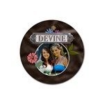 Devine Drink Coaster - Rubber Coaster (Round)