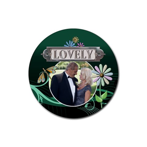 Lovely Drink Coaster By Lil    Rubber Coaster (round)   Hz4rxuaw1ehz   Www Artscow Com Front