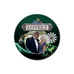 Lovely Drink Coaster - Rubber Coaster (Round)