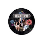 Party Drink Coaster - Rubber Coaster (Round)