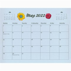 Memories/family  12 Month 2015 Calendar By Mikki   Wall Calendar 11  X 8 5  (12 Months)   F3dld618w50w   Www Artscow Com May 2018