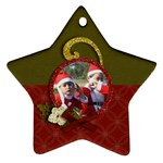 Ornament (Two Sides): Star6 - Star Ornament (Two Sides)