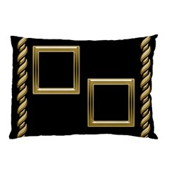 Black And Gold (2 Sided) Pillow Case By Deborah   Pillow Case (two Sides)   83ybn5c6mkrd   Www Artscow Com Back