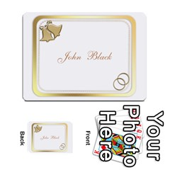 Wedding Place Cards (54) 2 Sided By Deborah   Multi Purpose Cards (rectangle)   Eos6o2f3qlsj   Www Artscow Com Front 1