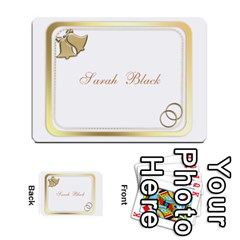Wedding Place Cards (54) 2 Sided By Deborah   Multi Purpose Cards (rectangle)   Eos6o2f3qlsj   Www Artscow Com Front 2