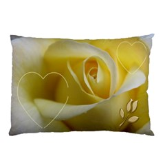 My Yellow Rose (2 Sided) Pillow Case By Deborah   Pillow Case (two Sides)   4lox2kt71zes   Www Artscow Com Front