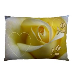 My Yellow Rose (2 Sided) Pillow Case By Deborah   Pillow Case (two Sides)   4lox2kt71zes   Www Artscow Com Back