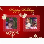 Snowflake Christmas 5x7 photo card - 5  x 7  Photo Cards