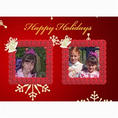 Snowflake Christmas 5x7 Photo Card By Kim Blair   5  X 7  Photo Cards   Z1bbfd92jrgb   Www Artscow Com 7 x5 Photo Card - 5