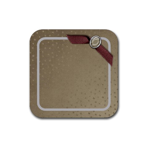 Coaster Gold By Shelly   Rubber Coaster (square)   2u1pr09uh4fv   Www Artscow Com Front