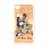 family a nice day - Apple iPhone 4 Case (White)