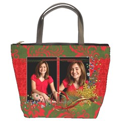 Christmas/holiday Bucket Bag By Mikki   Bucket Bag   Eky40ecsgv7j   Www Artscow Com Front