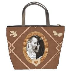 Brown Design Bucket Bag By Lil    Bucket Bag   Kq1w2grn40p7   Www Artscow Com Back
