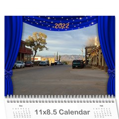 Our Production 2017 (any Year) Calendar Blue And Gold By Deborah   Wall Calendar 11  X 8 5  (12 Months)   Wyv8tyqbklhj   Www Artscow Com Cover