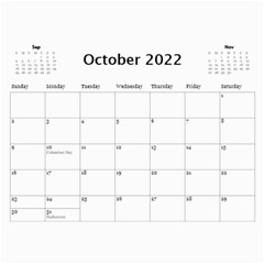 Our Production 2018 (any Year) Calendar Blue And Gold By Deborah   Wall Calendar 11  X 8 5  (12 Months)   Wyv8tyqbklhj   Www Artscow Com Oct 2018