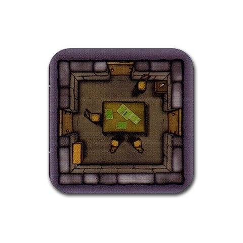 Agricola By Jorge Nieva   Rubber Coaster (square)   Lzqhvktnf5ox   Www Artscow Com Front