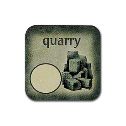 Quarry By Jorge Nieva   Rubber Coaster (square)   H1jtnubficxw   Www Artscow Com Front