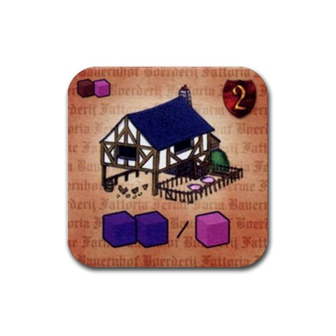 Caylus By Jorge Nieva   Rubber Coaster (square)   Ndhlkroj36nu   Www Artscow Com Front