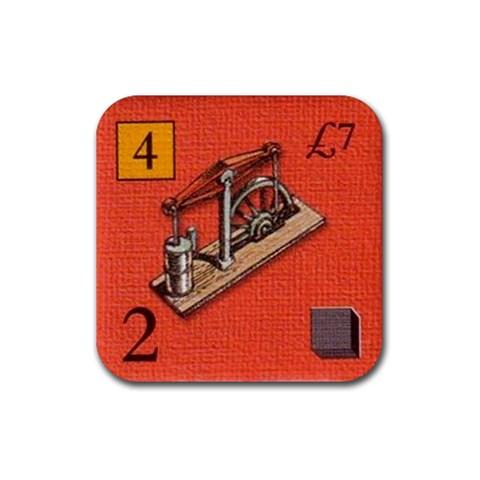 Brass By Jorge Nieva   Rubber Coaster (square)   Sn3vseuq86zm   Www Artscow Com Front
