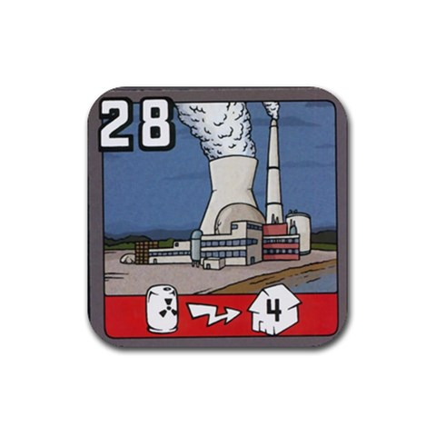 28nucelar By Jorge Nieva   Rubber Coaster (square)   5dzukwcnifdh   Www Artscow Com Front