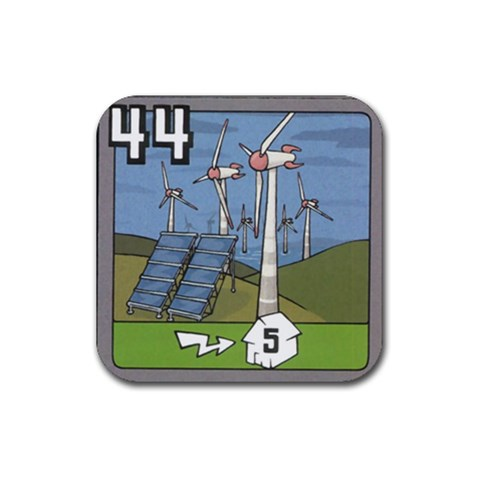 44eolica By Jorge Nieva   Rubber Coaster (square)   03m4kumexr1p   Www Artscow Com Front