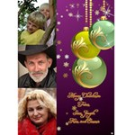 Green and Purple Bauble 5x7 Christmas Card - Greeting Card 5  x 7