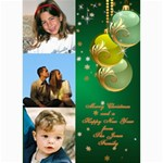 Green Bauble Photo card 5x7 - 5  x 7  Photo Cards