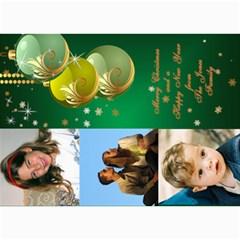 Green Bauble Photo Card 5x7 By Deborah   5  X 7  Photo Cards   626yuei4auf6   Www Artscow Com 7 x5 Photo Card - 8