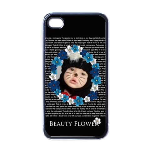 Beauty Flower By Joely   Apple Iphone 4 Case (black)   Cmdyoj88kudo   Www Artscow Com Front