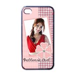 ballerina girl - Apple iPhone 4 Case (Black)