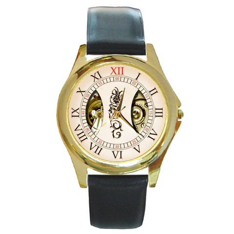 1939 By Timm Miller   Round Gold Metal Watch   F0h5gkeh6igs   Www Artscow Com Front