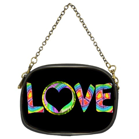Love Tie Dye Chain Purse By Digitalkeepsakes   Chain Purse (one Side)   Kkb0kcjmcry3   Www Artscow Com Front