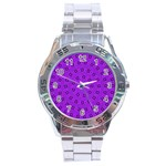 Purple Pinna - Stainless Steel Analogue Watch