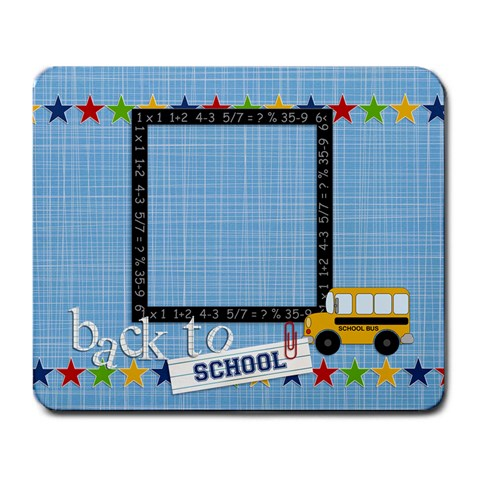 Mousepad   Back To School 4 By Jennyl   Large Mousepad   Fi6st5rplvuz   Www Artscow Com Front