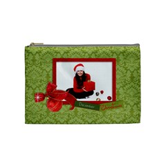 Christmas/holiday Cosmetic Bag (m)  By Mikki   Cosmetic Bag (medium)   M9auwmlg9jjg   Www Artscow Com Front