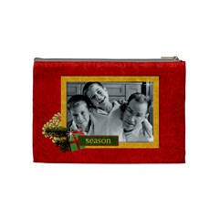 Christmas/holiday Cosmetic Bag (m)  By Mikki   Cosmetic Bag (medium)   M9auwmlg9jjg   Www Artscow Com Back
