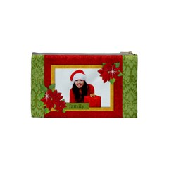 Chrismtas/family Cosmetic Bag (s)  By Mikki   Cosmetic Bag (small)   Phlxgch7mrpn   Www Artscow Com Back