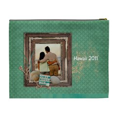 Beach/vacation Cosmetic Bag (xl)  By Mikki   Cosmetic Bag (xl)   N74fp111jqvm   Www Artscow Com Back