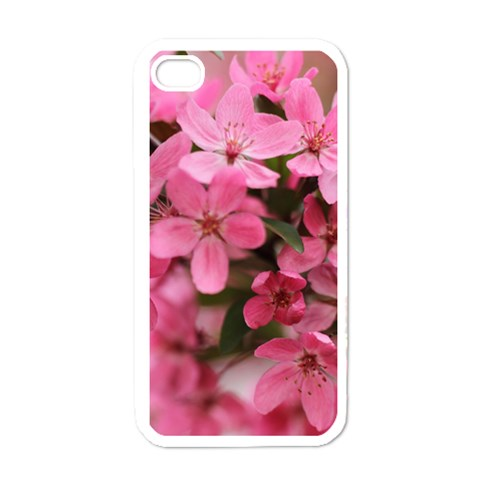 Floral Iphone Cover By Elise Hubka   Apple Iphone 4 Case (white)   9onpvmw18pp4   Www Artscow Com Front