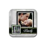 family coaster - Rubber Square Coaster (4 pack)