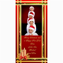 Elegant Merry Christmas Photo Card 4x8 By Deborah   4  X 8  Photo Cards   Vlbysujp42lt   Www Artscow Com 8 x4 Photo Card - 4