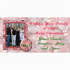 Family Christmas By Patricia W   4  X 8  Photo Cards   3ejmkdv9tqmh   Www Artscow Com 8 x4 Photo Card - 3