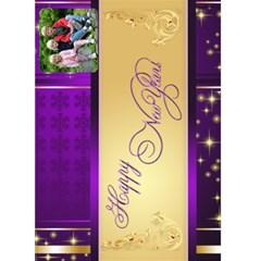 Happy New Year 2015 5x7 Card By Deborah   Greeting Card 5  X 7    Iub6p6dvok8c   Www Artscow Com Front Cover