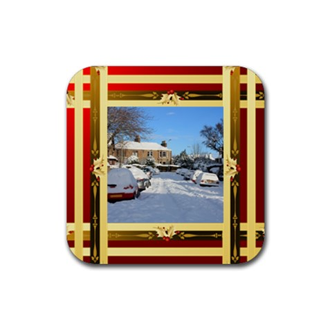 Checked Square Coaster By Deborah   Rubber Coaster (square)   Gxnbui1c73a6   Www Artscow Com Front