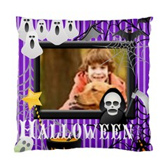 Happy Halloween By Wood Johnson   Standard Cushion Case (two Sides)   1hl1xnr3fh6k   Www Artscow Com Front
