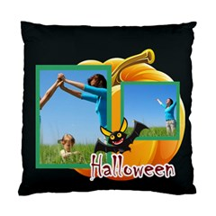 Happy Halloween By Wood Johnson   Standard Cushion Case (two Sides)   1j40zdfruomv   Www Artscow Com Front
