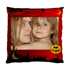 Happy Halloween By Wood Johnson   Standard Cushion Case (two Sides)   Tkit0np9l8z4   Www Artscow Com Front