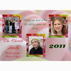 Christie Family Christmas By Patricia W   5  X 7  Photo Cards   Xh25g4z3wsqh   Www Artscow Com 7 x5 Photo Card - 2