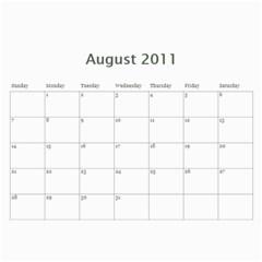 Family Calendar By Patricia W   Wall Calendar 11  X 8 5  (12 Months)   5k4dsklc7erw   Www Artscow Com Aug 2011